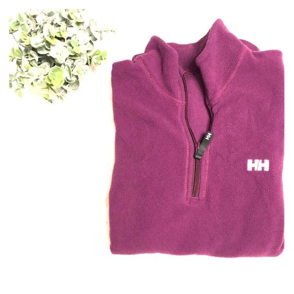 Helly hansen purple fleece pullover
